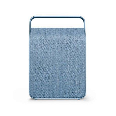 Vifa Bluetooth speaker Oslo ijsblauw aluminium textiel 18,1x9x26,8cm