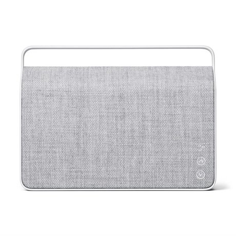 Vifa Bluetooth Lautsprecher Copenhagen 2.0 hellgraues Aluminium Textil 36,2x9x26,8cm