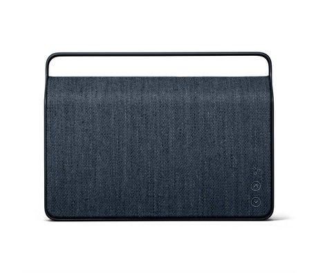 Vifa Bluetooth Lautsprecher Copenhagen 2.0 dunkelblaues Aluminium Textil 36,2x9x26,8cm