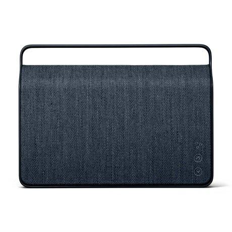 Vifa Bluetooth speaker Copenhagen 2.0 donkerblauw aluminium textiel 36,2x9x26,8cm