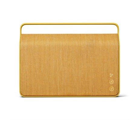Vifa Bluetooth Lautsprecher Copenhagen 2.0 gelb Aluminium Textil 36,2x9x26,8cm