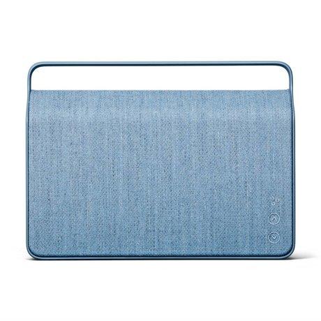 Vifa Bluetooth speaker Copenhagen 2.0 ijsblauw aluminium textiel 36,2x9x26,8cm
