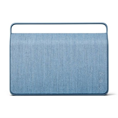 Vifa Enceinte Bluetooth Copenhagen 2.0 en aluminium bleu glacier 36,2x9x26,8cm