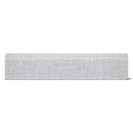 Vifa Bluetooth Lautsprecher Stockholm 2.0 hellgraues Aluminium Textil 110x10x21,5cm