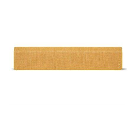 Vifa Bluetooth Lautsprecher Stockholm 2.0 gelb Aluminium Textil 110x10x21,5cm