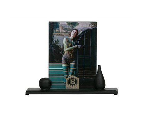 BePureHome Photo frame Beloved Too L black wood 20x24cm