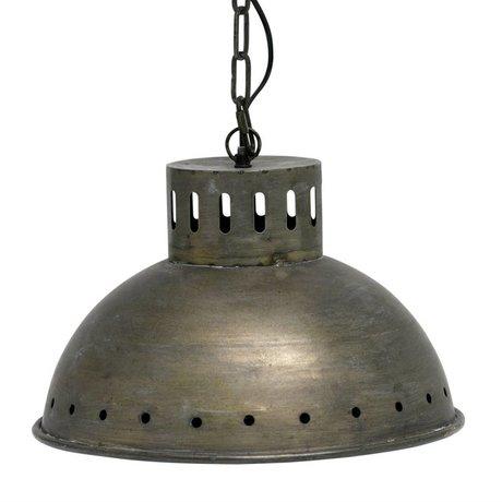 BePureHome Lampe à suspendre Bouilloire en laiton antique en métal doré 24x39,5x39,5cm
