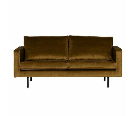 BePureHome Sofa Rodeo 2,5 Sitzer Honig gelben Samt samt 85x190x86cm