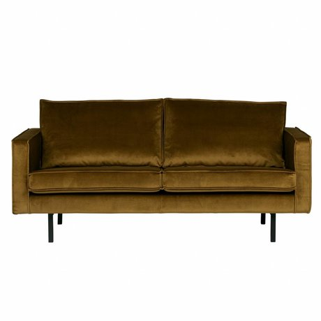 BePureHome Sofa Rodeo 2,5 seater Honey yellow velvet velvet 85x190x86cm