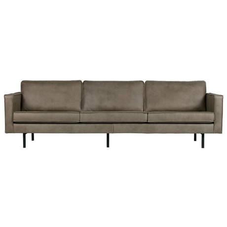 BePureHome Sofa Rodeo 3 seater Elephant skin gray leather 85x277x86cm
