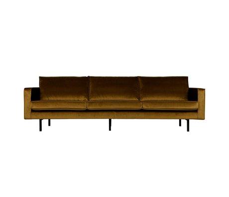 BePureHome Sofa Rodeo 3 Sitzer Honig gelben Samt samt 85x277x86cm