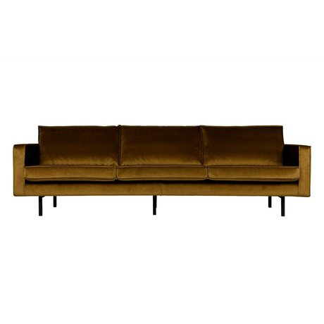BePureHome Sofa Rodeo 3 seater Honey yellow velvet velvet 85x277x86cm