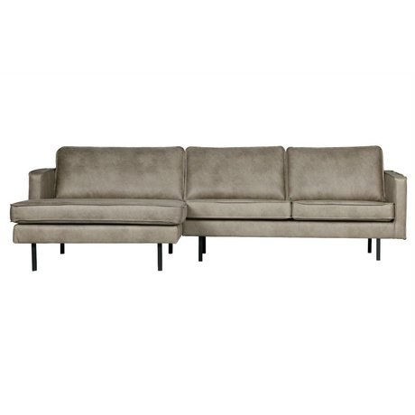 BePureHome Sofa Rodeo chaise longue left elephant skin gray leather 85x300x86 / 155cm
