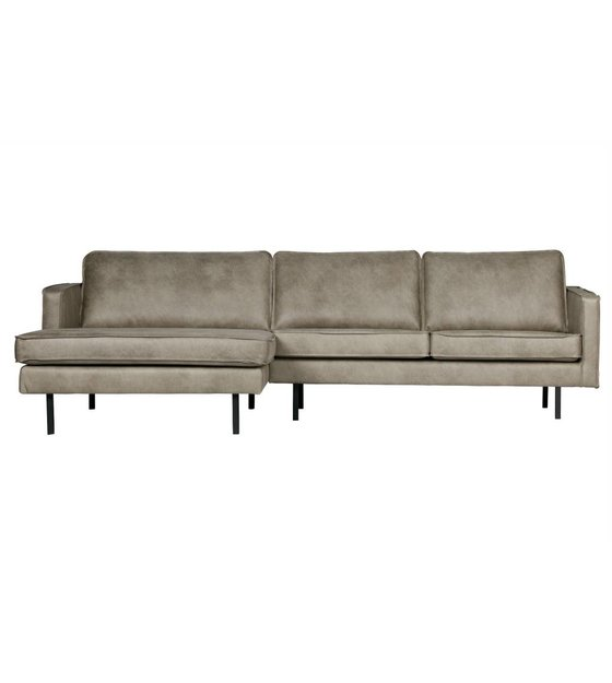 Astounding Sofa Rodeo Chaise Longue Left Elephant Skin Gray Leather 85X300X86 155Cm Lamtechconsult Wood Chair Design Ideas Lamtechconsultcom