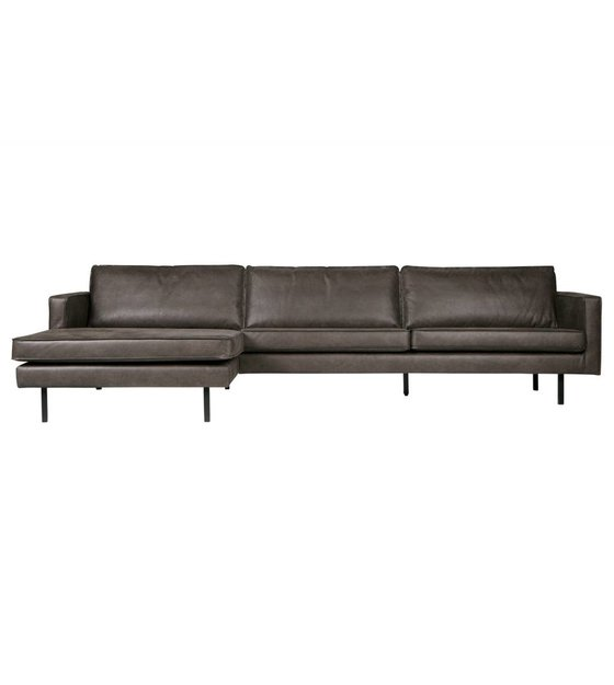 Super Sofa Rodeo Chaise Longue Left Black Leather 85X300X86 155Cm Caraccident5 Cool Chair Designs And Ideas Caraccident5Info