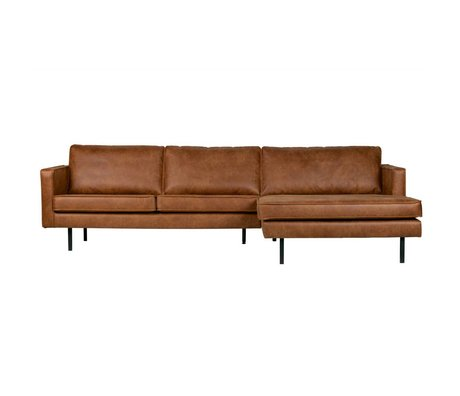 BePureHome Sofa Rodeo chaise longue right cognac brown leather 85x300x86 / 155cm