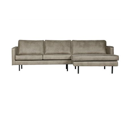 BePureHome Sofa Rodeo chaise longue right Elephant skin gray leather 85x300x86 / 155cm
