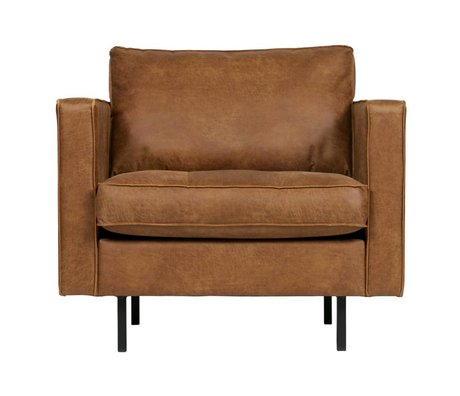 BePureHome Armchair Rodeo classic cognac brown leather 83x98x88cm