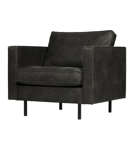 Pleasing Armchair Rodeo Classic Black Leather 83X98X88Cm Caraccident5 Cool Chair Designs And Ideas Caraccident5Info