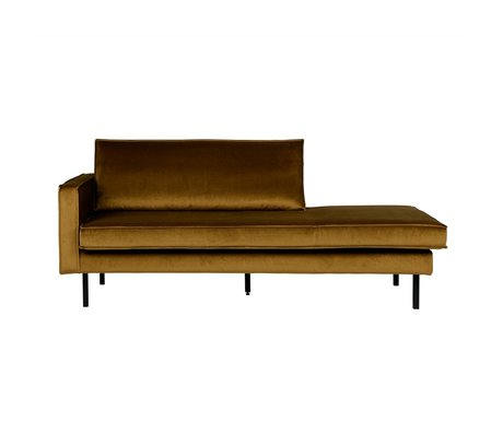 BePureHome Daybed Rodeo gauche miel velours jaune velours 85x203x86cm