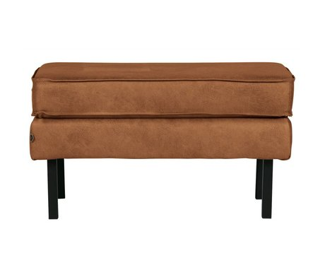 BePureHome Hocker Rodeo cognac brown leather 45x84x54cm