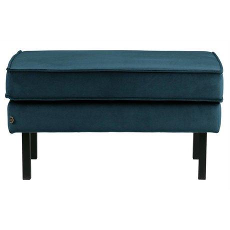 BePureHome Hocker Rodeo blauw fluweel velvet 45x84x54cm