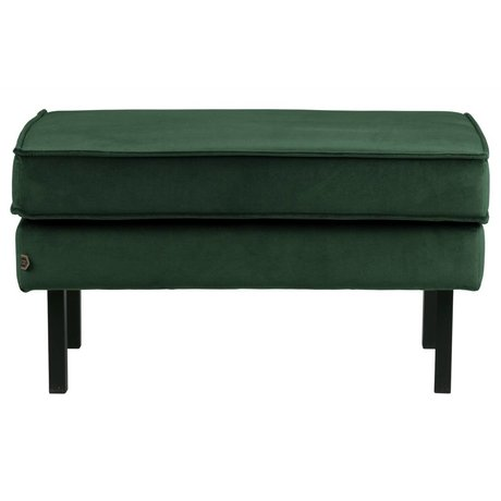 BePureHome Hocker Rodeo forest green velvet velvet 45x84x54cm