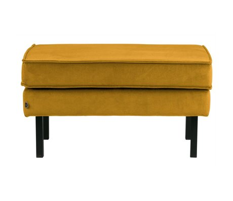 BePureHome Hocker Rodeo oker geel fluweel velvet 45x84x54cm