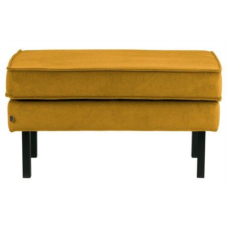 BePureHome Hocker Rodeo ocher yellow velvet velvet 45x84x54cm