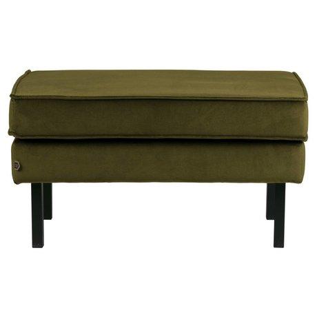 BePureHome Hocker Rodeo olive green velvet velvet 45x84x54cm