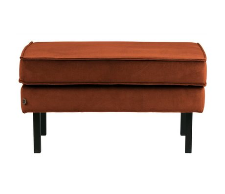 BePureHome Hocker Rodeo rouille orange velours velours 45x84x54cm