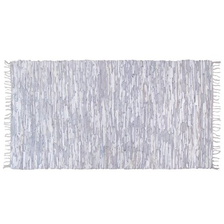 HK-living Rug leather light gray 180x280cm