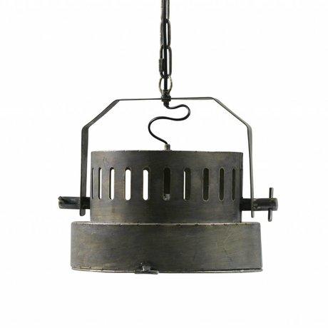 BePureHome Lampe à suspension Theater en laiton antique en métal doré noir 28x35x31,5cm