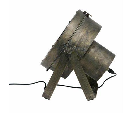 BePureHome Lampe de table Théâtre antique en laiton doré métal noir 31,5x35x28cm