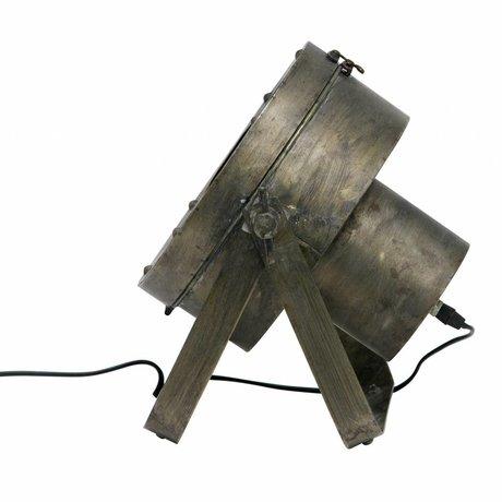 BePureHome Tafellamp Theatre antiek brass goud zwart metaal 31,5x35x28cm