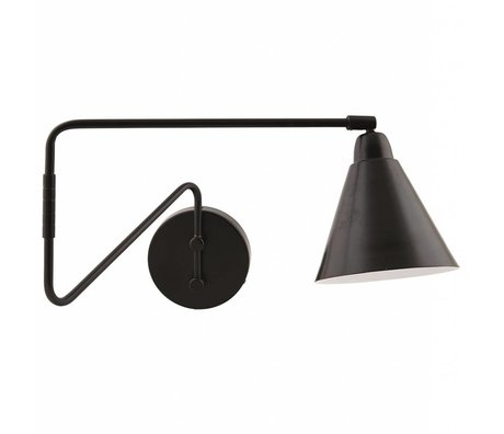 Housedoctor Wall Lamp Game metallic black / white Ø15x13x70cm