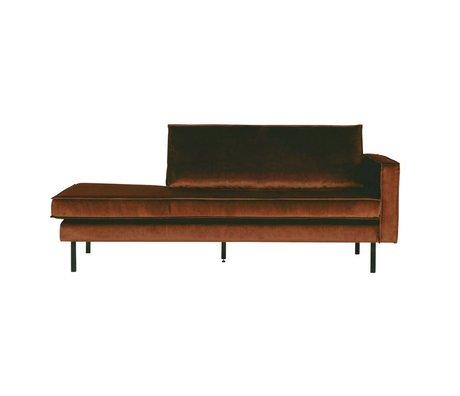 BePureHome Daybed velvet rust right orange velvet 203x86x85cm