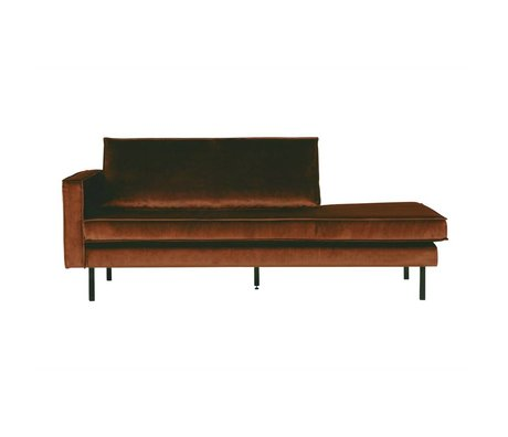 BePureHome Bank Daybed Rodeo velvet roest links oranje fluweel 203x86x85cm