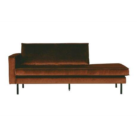 BePureHome Daybed velvet rust left orange velvet 203x86x85cm