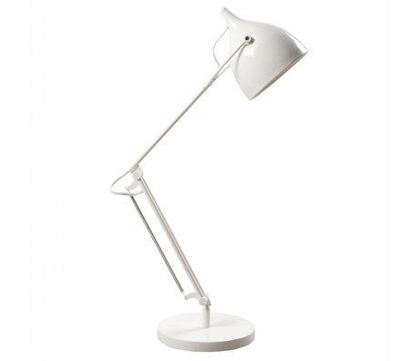 Zuiver Tafellamp Reader metaal mat wit Ø22xH76cm