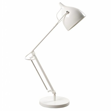 Zuiver Lampe de table en métal mat lecteur Ø22xH76cm blanc