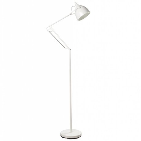Zuiver Floor Lamp Reader metal matt white Ø25xH167cm