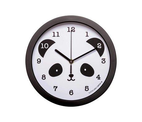 A Little Lovely Company Klok Panda zwart wit kunststof Ø25x4,2cm