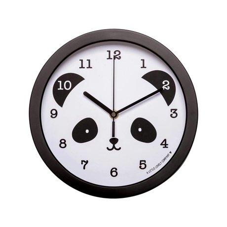 A Little Lovely Company Horloge Panda noir plastique blanc Ø25x4,2cm