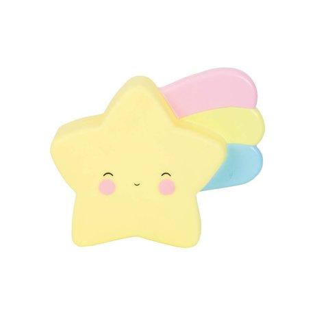 A Little Lovely Company Money box Shooting star yellow PVC 17,5x15x6cm