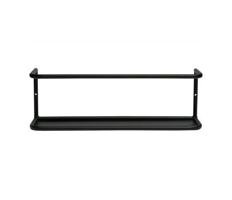 LEF collections Wandplank Myrthe L zwart metaal 40x10x13cm