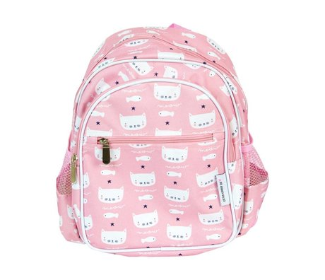 A Little Lovely Company Backpack Cats pink 30x33x14,5cm