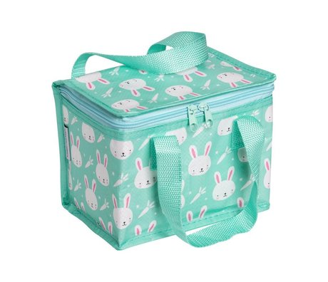 A Little Lovely Company Cooler bag Rabbit multicolour 20x15x14cm