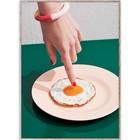 Paper Collective Poster fried egg multicolour papier 50x70xm