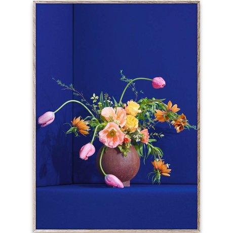 Paper Collective Affiche Blomst 01 / bleu multicolore paier 50x70cm